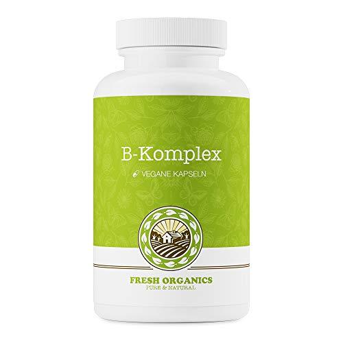 Compresse del complesso vitaminico B - 180 compresse vegane - 100% del fabbisogno giornaliero di tutte le vitamine del gruppo B, B1 B2 B3 B5 B12 B9 + Biotina con acido folico