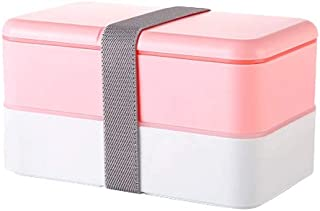 WCHCJ Meal Prep Container for Adults Kids -Removable Compartments - Microwave Dishwasher Freezer Safe (Color : Pink)