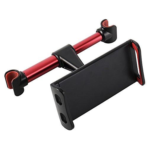 Auto iPad Tablet Houder Auto Hoofdsteun Mount Houder Auto Stoel Mount Houder met 360 Graden Rotatie voor iPad iPhone Oppervlak Samsung Galaxy Tabs Past 4 tot 10 inch Schermen, Rood