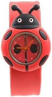 Regarder Les Filles Cartoon Ladybird Forme Wristwatch Jouet pour Enfants Poignet Bande Rouge