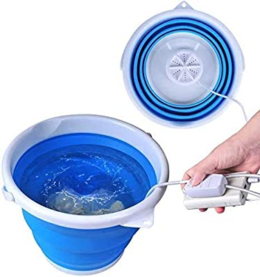 SHIKING Portable Foldable Laundry Tub, Compact Personal Baby Clothes Washer for Dorms Socks Underwear Bra