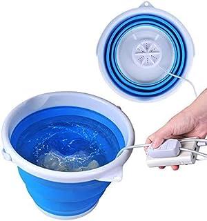 Bañera plegable mejorada, lavadora portátil, turbina ultrasónica, lavandería USB práctica para apartamentos de camping, do...