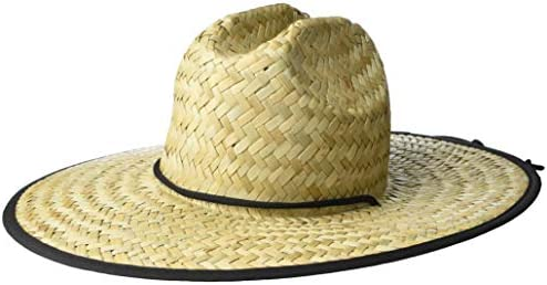 Amazon Brand 28 Palms Men s Straw Lifeguard Sun Hat Floral Tropical Trim One Size product image