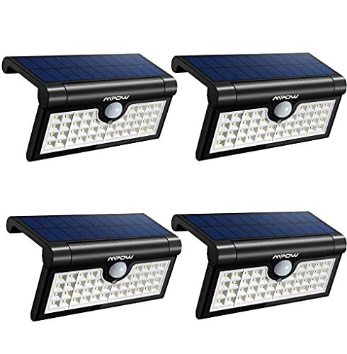 Luces Solares Para Jardín Luces Solares Al Aire Libre, 42 Leds Luces De Seguridad Con Sensor De Movimiento Solar Plegable, 3 Modos 120 °; Luces De Pared Con Ángulo De Detección, 1200 Mah Luz