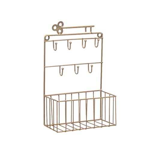 Max-Tonsen Soporte para Llaves y Correo montado en la Pared, Organizador de 7 Ganchos, clasificador de Bolsillo y Cartas para Entrada, Cocina, hogar, Oficina, decoración