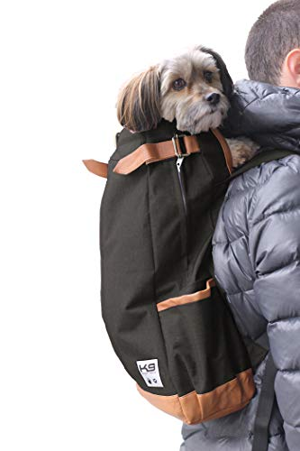 K9 Sport Sack | Dog Carrier Backpack for Small and Medium Pets | Front Facing Adjustable Dog Backpack Carrier | Fully Ventilated | Veterinarian Approved (Small, Urban - Jet Black)