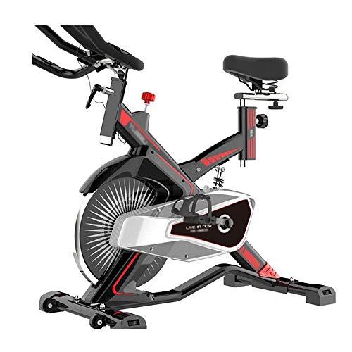 Magnética Bicicleta estática, cubierta estacionaria ciclo de la bici, libre de ruido Smooth la bicicleta estática con el soporte de la tableta y la pantalla LCD monitor de gimnasio en casa Cardio Work