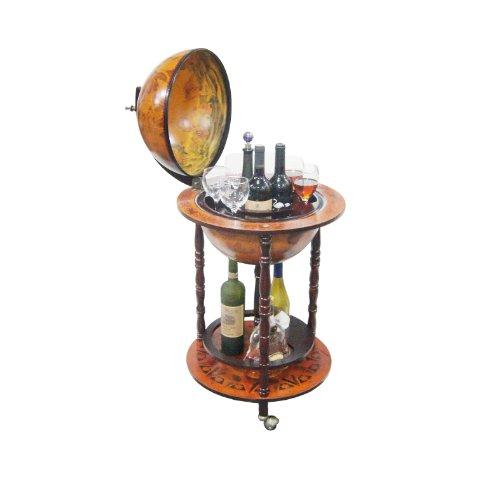Merske 16th Century Italian Style Floor Globe Bar, 22-Inch Diameter