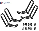 DrSportsUSA Universal Foldable 2 Pairs J-Bar Kayak Rack Folding Car Roof Top Carrier for Canoe, SUP, Kayaks, Surfboard and Ski Board Rooftop Mount on SUV, Car and Truck