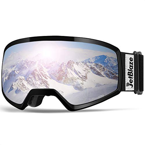 JetBlaze Snow Goggles, Dual Layers Lens Anti-Fog UV Protection Spherical...