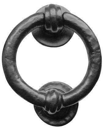 Frelan Hardware Türklopfer Eisen schwarz antik Ring 102 mm