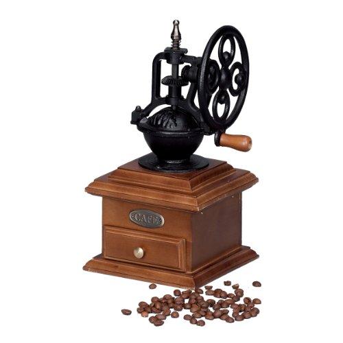 Zeller 19820 - Molinillo de café de Madera y Hierro Fundido, 18 x 14 x 28 centímetros