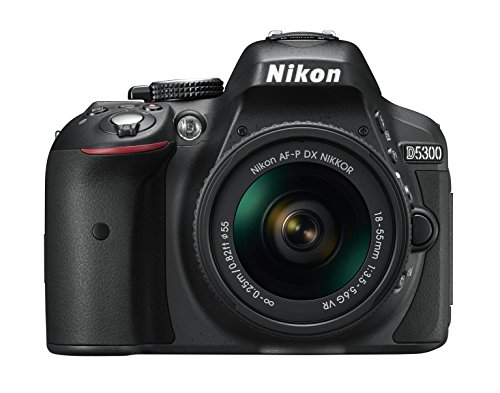 Nikon D5300 Kit AF-P 18-55 + AF-P 70-300 VR - Cámara réflex digital 24.2 Mp, color negro