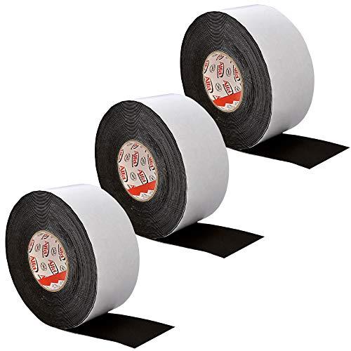 Abdeckband Holz & Unterkontruktionen 3 Rollen - einseitig selbstklebendes Terrassen-tape - Niederschlagschutz 80 mm x 1 mm x 20 m