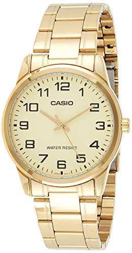 Casio Enticer Men's Analog Gold Dial Men's Watch - MTP-V001G-9BUDF (A1083)