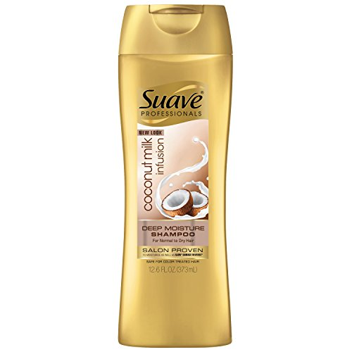Suave Professionals Deep Moisture Shampoo, Coconut Milk Infusion 12.6 oz