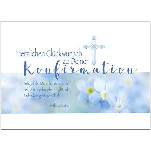 Glückwunschkarte Konfirmation mit Umschlag/Modern für Jungen/Konfirmationskarten/Karte für Glückwünsche/Feier