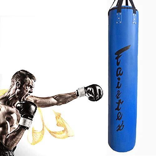 Bokszak Bokszak Zware, Holle Zware Tas, Fight Fitness Versterking Geschikt Voor Volwassenen En Kinderen, Ideaal Voor Stressverlichting, Fitnessapparatuur,Blue,1.8m
