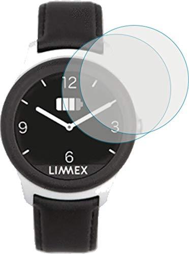 4ProTec I 2X Schutzfolie KLAR passgenau für Limmex Notruf Uhr - Bildschirmschutzfolie Schutzhülle