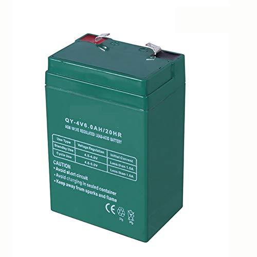 ROZIN 4V 6AH Batería De Plomo-Ácido 4V6AH Potencia De Respaldo para Luz De Emergencia LED Niños Juguete Coche Electrónico Balanza Acumulador Reemplazo