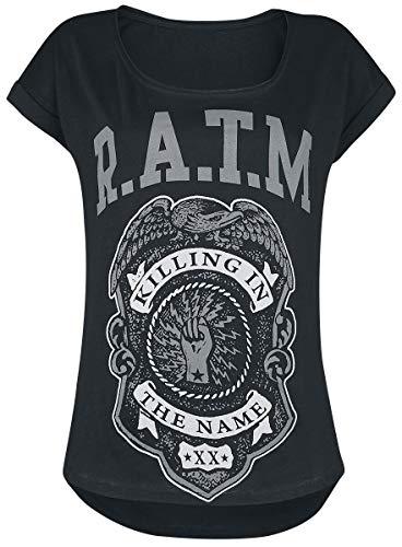 Générique Rage Against The Machine Police Badge Femme T-Shirt Manches Courtes Noir S