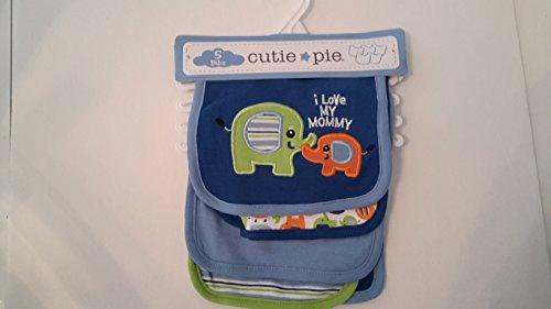 Baby Cutie Pie 5-pk. Pattern Bibs
