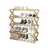 YIXIN2013SHOP Zapatero Plegable sin Instalar el gabinete del Zapato del hogar de múltiples Capas del Zapato de bambú del Estante del Zapato Estante para Zapatos (Size : L)