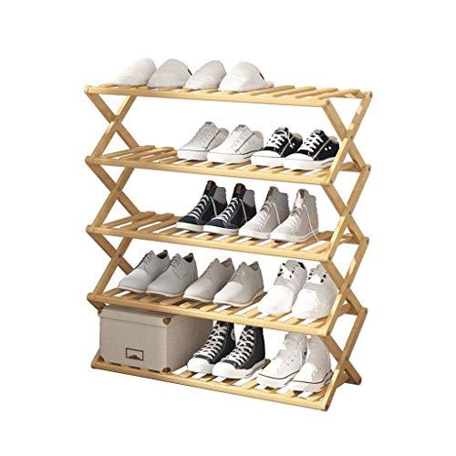 Xiaoli Zapateros Plegable sin Instalar el gabinete del Zapato del hogar de múltiples Capas del Zapato de bambú del Estante del Zapato Armario Organizador (Size : S)