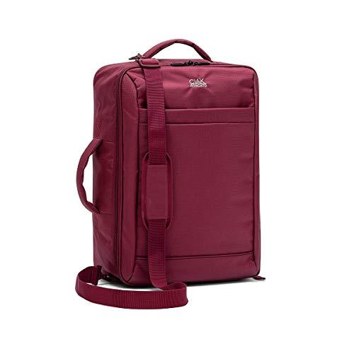 Ciak Roncato Borsone/Zaino Cabina ideale come Bagaglio a Mano Collezione SMART, in Tessuto Jacquard Colore Rosso