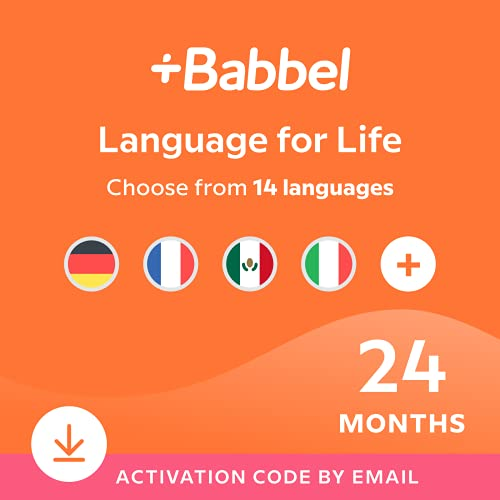 Babbel Language Learning Software - Learn to Speak Spanish, French, English, & More - 14 Languages to Choose from - Compatible with iOS, Android, Mac & PC (24 Month Subscription)
