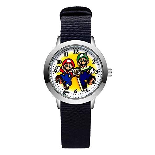 XINTENG Mario Bros horologe dibujos animados lindo lindo estilo Mario relojes niños niños estudiantes niñas cuarzo nylon correa reloj de pulsera