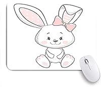 ECOMAOMI 可愛いマウスパッド バニーキュートプリントスウィートベイビーボーイデザイン 滑り止めゴムバッキングマウスパッドノートブックコンピュータマウスマット