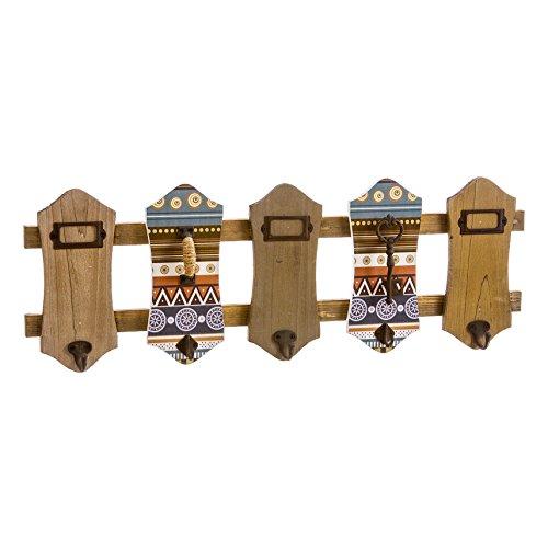 Nahuel Home - Percha Madera Combinado 5 Pomos