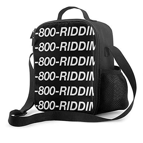 Bolsa de almuerzo con aislamiento Línea directa Riddim 1-800-Riddim Bolsa de almuerzo fría con aislamiento térmico portátil Picnic Oficina Escuela