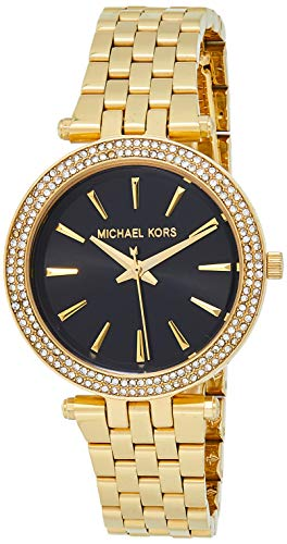 Michael Kors Women's Mini Darci Quartz Watch with Stainless-Steel Strap, Gold, 8 (Model: MK3738)