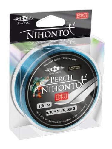 Mikado NIHONTO Perch - Hilo de pesca (monofilamento, 0,12-0,24 mm, bobina de 150 m), 0,24mm/7,75kg