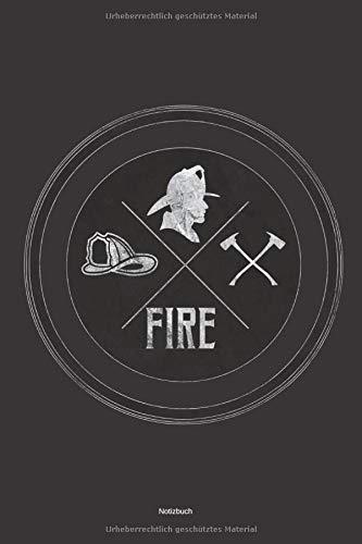 Notizbuch: Feuerwehrmann Geschenk Buch Feuerwehrfrau Einsatztagebuch Feuerwehr  Liniertes Notizbuch ca A5 für Notizen, Skizzen, Zeichnungen, Formeln, als Kalender oder zum Lernen