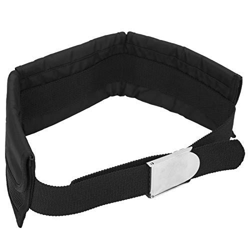 Cinturón de lastre de buceo, cinturón de cintura de contrapeso de 3 bolsillos Cinturón de lastre ajustable para trabajo pesado con hebilla para buceo, natación, esnórquel, buceo (pesos no incluidos)