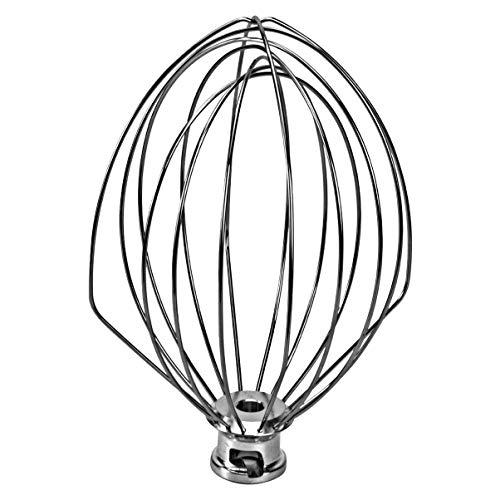 iplusmile – Látigo de acero inoxidable, rastrillo de huevo, batidora de huevos, batidora de cabeza basculante, batidora de harina y globo para batidora KitchenAid K45WW