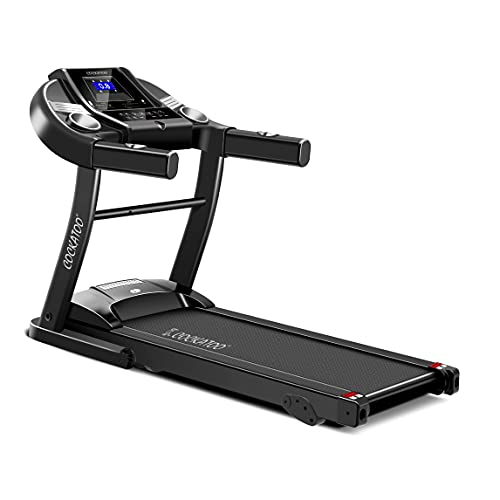 Cockatoo CTM-04-05 1.5 HP – 2HP Peak DC Motorized Treadmill for Home with 3 Level Manual Incline, Max Speed 14 Km/Hr…