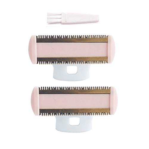 Body Ladies Shaver Replacement Heads, STOUCH Blades For Shaver and Trimmer for Perfect Finishing and Smooth Touch, As Seen ON TV, Gold Rose, Count 2