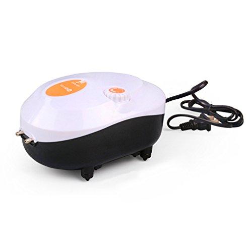 Diamoen Fish Tank Quiet Luftpumpe Aquarium Leistungsstarke Luftsauerstoffkompressor 220V Durchfluss einstellbar Doppel Outlet