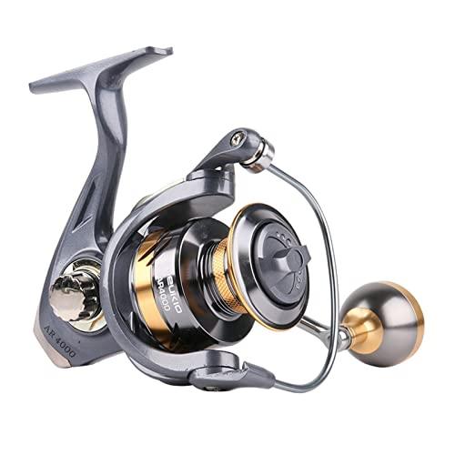 Banrx Store Nuevo 13 cama y desayuno Rollo de pesca de hilado Bobina de pesca Profesional Metal izquierda /derecha Pesca Pesca Spinning Reel Wheels ( Color : Grey , Spool Capacity : 3000 Series )