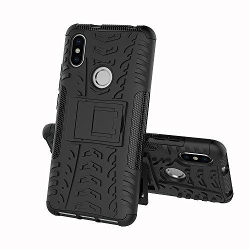 JMstore Funda Compatible con Xiaomi Redmi S2 +Pantalla Vidrio Templado Combinación A Prueba Choques Carcasa móviles(Negro)