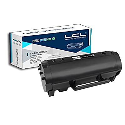 LCL Compatible Toner Cartridge Replacement for Lexmark 60F1H00 60F1000 601H 10000 Page MX310dn MX410de MX510de MX511dte MX511dhe MX511de MX610dw MX611de MX611dhe MX611dte (1-Pack Black)