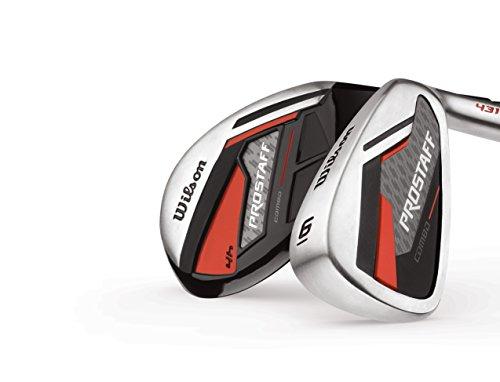 Wilson Staff Herren Golf Schlägersätze Pro Combo MRH GRA 4/5/6 SW, Schwarz Rot, One size