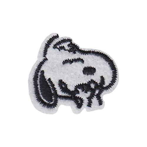 Heerhuo Woodstock Snoopy – Snoopy in rotem Pullover und Sonnenbrille – bestickt oder genäht zum Aufbügeln bronze