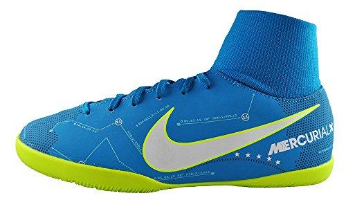 Nike JR Mercurialx VCTRY6 DF NJR IC – Scarpe da Calcetto Neymar Jr, Unisex, per Bambini, Blu – (Blue Orbit/White-Blue Orbit-Armory Navy)