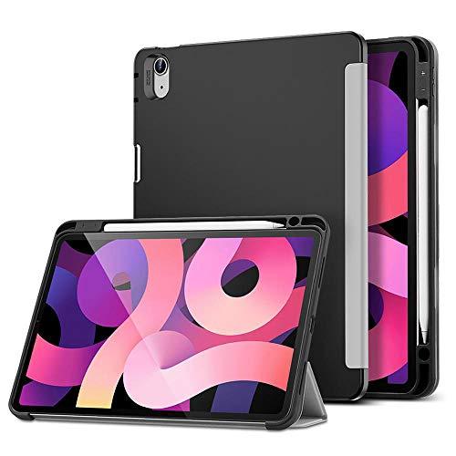 YYLKKB Case for iPad Air 4 10.9 iPad 8 Gen 10.2 Case Pencil Holder Enclosure Smart Case Flexible Back Cover for iPad Air 2020 Case-Grey_iPad Air 4 2020