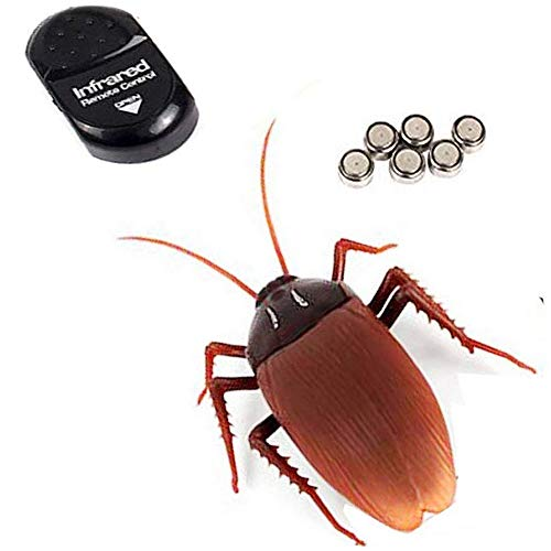 NiGHT LiONS TECH Emulational Remote Control cockroach RC Animal Toy Funny toy For Halloween April Fools' Day Christmas